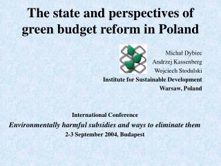 The state and perspectives of green budget reform in Poland
