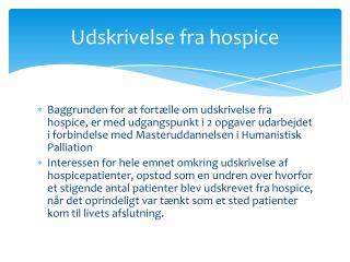 Udskrivelse fra hospice