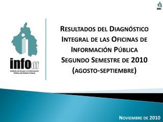 Resultados del Diagnóstico Integral de las Oficinas de Información Pública