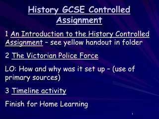 History GCSE Controlled Assignment