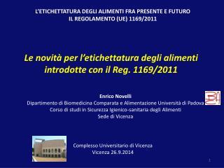Complesso  Universitario di Vicenza Vicenza 26.9.2014