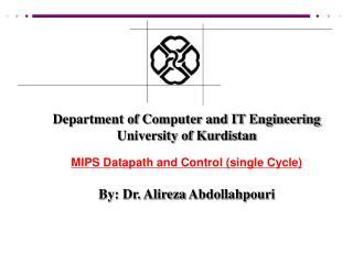 Department of Computer and IT Engineering University of Kurdistan