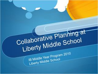 Collaborative Planning at Liberty Middle School