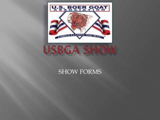 USBGA SHOW