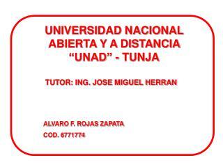 TUTOR: ING. JOSE MIGUEL HERRAN