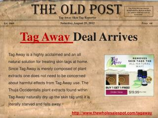 Purchase Tag Away and Remove Skin Tags Painlessly at Home
