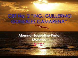 """CBT No. 2 """"ING. GUILLERMO GONZALEZ CAMARENA""""."""