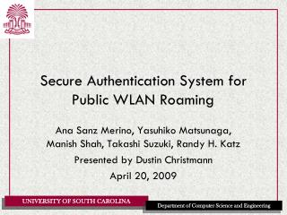 Secure Authentication System for Public WLAN Roaming