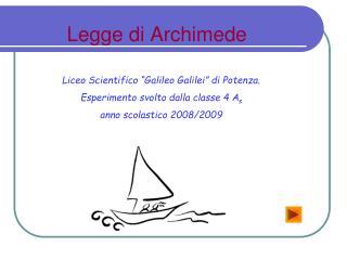 Legge di Archimede