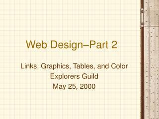 Web Design–Part 2