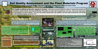 Soil Quality Assessment and the Plant Materials Program