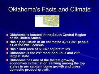 Oklahoma�s Facts and Climate