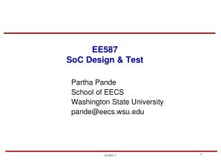 EE587 SoC Design  Test