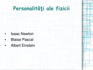 Personalităţi ale fizicii