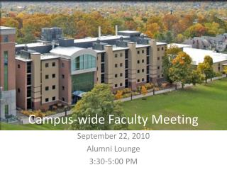 Campus-wide Faculty Meeting