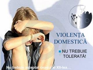 VIOLENŢA DOMESTICĂ