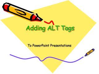 Adding ALT Tags