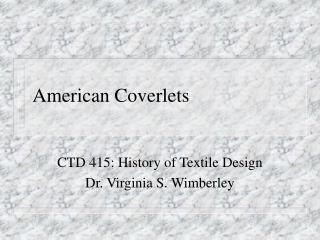 American Coverlets