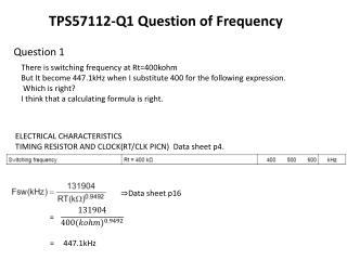 ELECTRICAL CHARACTERISTICS TIMING RESISTOR AND CLOCK(RT/CLK PICN)  Data sheet  p4.
