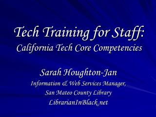 Tech Training for Staff: California Tech Core Competencies