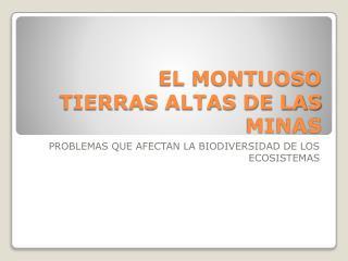 EL MONTUOSO TIERRAS ALTAS DE LAS MINAS