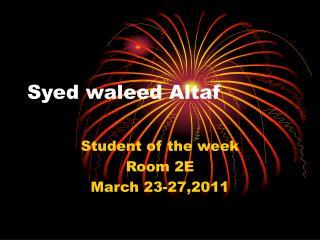 Syed waleed Altaf
