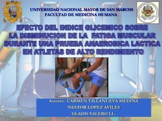 UNIVERSIDAD NACIONAL MAYOR DE SAN MARCOS FACULTAD DE MEDICINA HUMANA