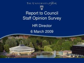 Report to Council Staff Opinion Survey