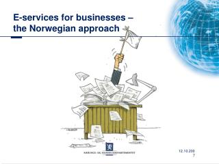 E-services for businesses –  the Norwegian approach