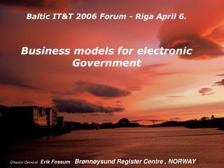 Director General Erik Fossum Brønnøysund Register Centre , NORWAY