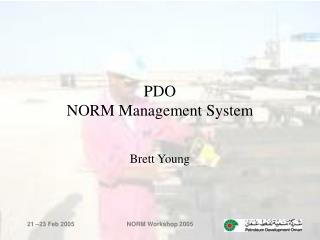 PDO  NORM Management System