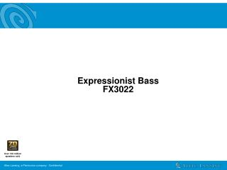 Expressionist Bass  FX3022
