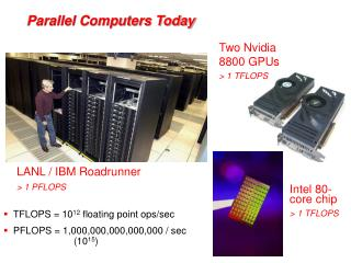 Parallel Computers Today