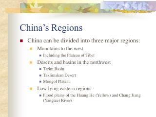 China's Regions