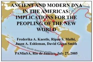 ANCIENT AND MODERN DNA IN THE AMERICAS: IMPLICATIONS FOR THE PEOPLING OF THE NEW WORLD