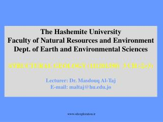 The Hashemite University Faculty of Natural Resources and Environment
