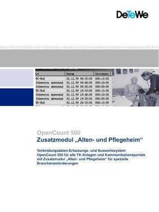 """Zusatzmodul """"Alten- und Pflegeheim"""""""