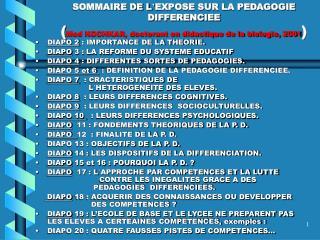 DIAPO 2  : IMPORTANCE DE LA THEORIE. DIAPO  3 : LA REFORME DU SYSTEME EDUCATIF