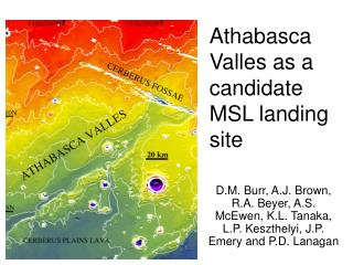 Athabasca Valles as a candidate MSL landing site