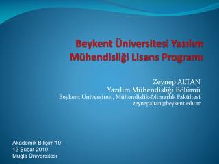Beykent  Üniversitesi Yazılım Mühendisliği Lisans Programı