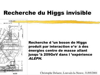 Recherche du Higgs invisible