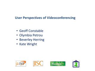 User Perspectives of Videoconferencing