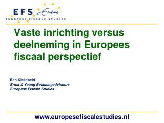 Vaste inrichting versus deelneming in Europees fiscaal perspectief