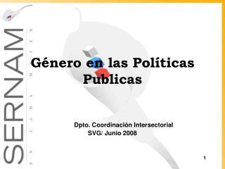 Género en las Políticas Publicas