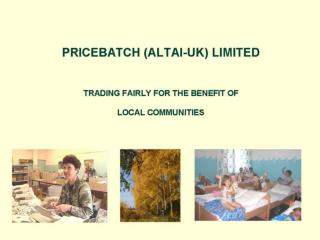 Pricebatch Presentation 2006