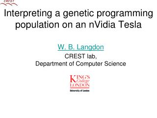 Interpreting a genetic programming population on an nVidia Tesla