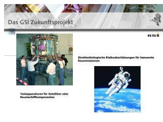 Testapparaturen für Satelliten oder Raumschiffkomponenten
