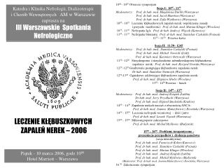 Piatek - 10 marca 2006, godz 1000   Hotel Marriott   Warszawa