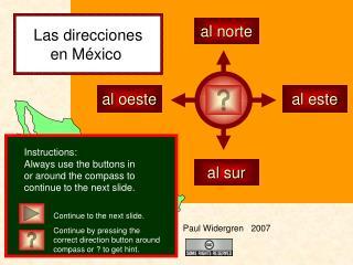 Las direcciones en México