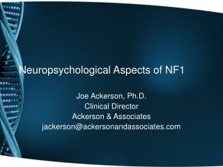 Neuropsychological Aspects of NF1